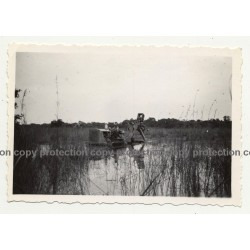 Gabenge - Bolobo / Congo: Big Dredge At Work *4 / Water Pipe (Vintage Photo B/W 1946)