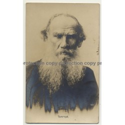 Portrait Of León Tolstói (Rare Vintage RPPC Gelatin Silver Photo ~1900)