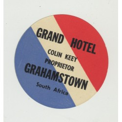 Grand Hotel - Grahamstown / South Africa (Vintage Luggage Label)