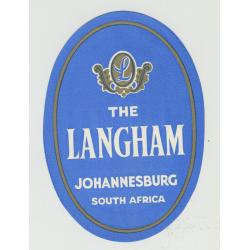 The Langham Hotel - Johannesburg / South Africa (Vintage Luggage Label)