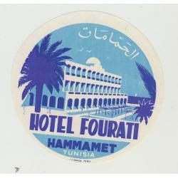 Hotel Fourati - Hammamat / Tunisia (2)(Vintage Luggage Label)