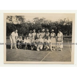 Elisabethville / Congo: Players Of B.C.K. On Tennis Court *1 (Vintage Photo B/W 1934)