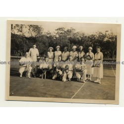 Elisabethville / Congo: Players Of B.C.K. On Tennis Court *2 (Vintage Photo B/W 1934)
