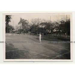 Elisabethville / Congo: Tennis Player At Serve B.C.K. (Vintage Photo B/W 1934)