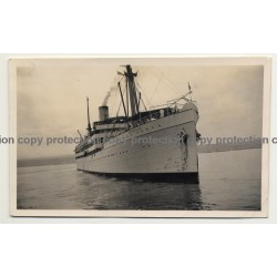 Lobito / Angola: Ocean Liner Thysville / Front View (Vintage Photo B/W 1931)