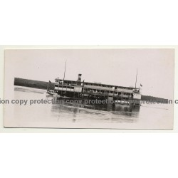 Congo / Africa: S.W. Luxembourg / Steamship (Vintage RPPC B/W ~1930s)