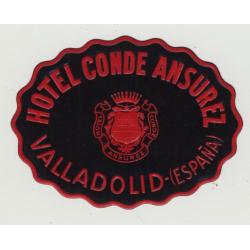 Hotel Conde Ansurez - Valladolid / Spain (Vintage Luggage Label)