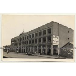 Elisabethville / Congo: Globe Hotel / Oldtimer (Vintage RPPC B/W ~1930s)