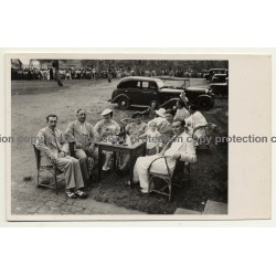 Congo / Africa: Colonial High Society At Picnic / Oldtimers (Vintage RPPC B/W ~1930s)