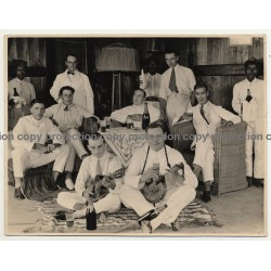 Sumatra / Indonesia: Memory Of A Gentleman's Evening (Vintage Photo B/W 1927)