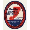 Panta Siemer Reisen / Panta-Verkehrs-Gesellschaft m.b.H. (Vintage Luggage Label)