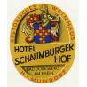 Hotel Schaumburger Hof - Bad Godesberg Am Rhein / Germany (Vintage Luggage Label)