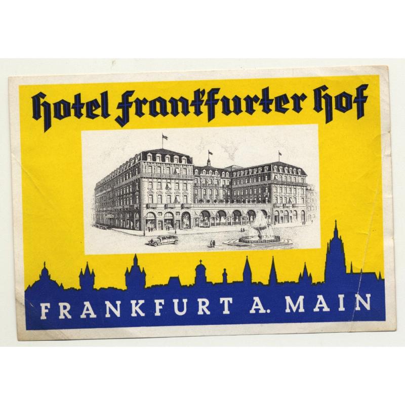 Hotel Frankfurter Hof - Frankfurt A. Main / Germany (Vintage Luggage Label)