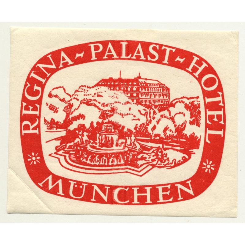 Regina Palast Hotel - München / Germany (Vintage Luggage Label)