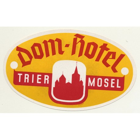 Dom-Hotel - Trier, Mosel / Germany (Vintage Luggage Label)