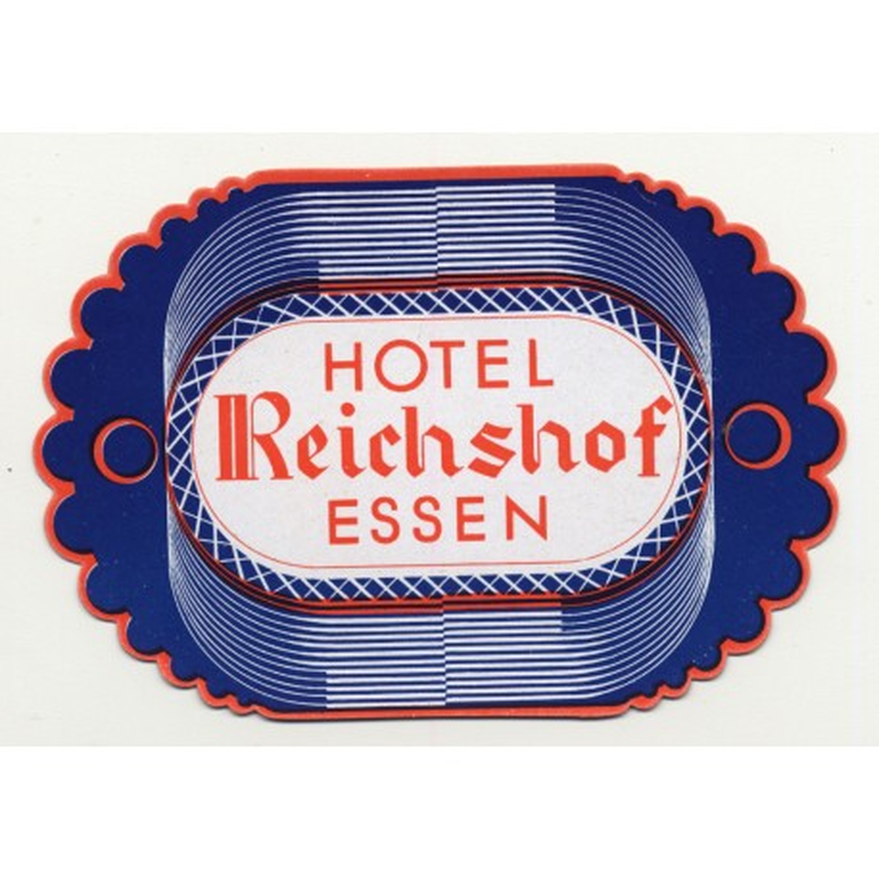 Hotel Reichshof - Essen / Germany (Vintage Luggage Label)