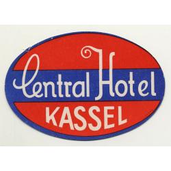 Central Hotel - Kassel / Germany (Vintage Luggage Label)