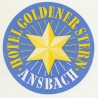 Hotel Goldener Stern - Ansbach / Germany (Vintage Luggage Label)