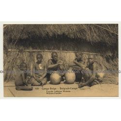 Congo Belge 101: Famille Indigène Wahutu (Vintage Postal Stationery 1916)