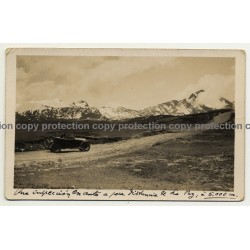 La Paz / Bolivia: Oldtimer On Mountain Pass (Vintage Postcard RPPC 1926 )