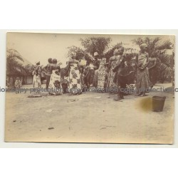 Bafurasende / Congo: Native People Of Village / Sarong (Vintage Photo Sepia 1919)