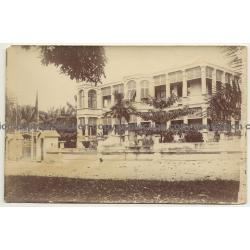 Falls - Congo: Palais Du V. S. S. (Vintage Photo Sepia 1919)
