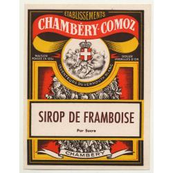 Sirop De Framboise / Chambéry-Comoz (Vintage Chromo Litho Label ~1910/1920s)