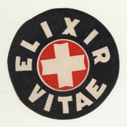 Elixir Vitae (Vintage Bottle Label ~1910/1920s)