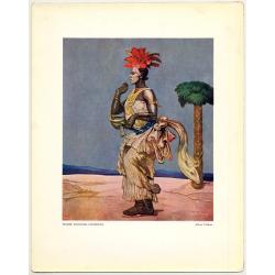 Fernand Allard L'Olivier: Femme Sorcière. Usumbura (Vintage Art Print 32 x 25.5 CM ~1930s)
