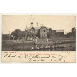 Tigre / Argentina: Ruder-Verein Teutonia (Vintage Postcard B/W 1904)