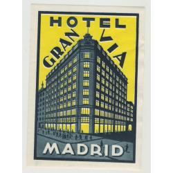 Hotel Gran Via - Madrid / Spain (big) (Vintage Luggage Label)