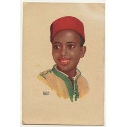 Erwin Hubert: Young Moroccan / Oficina De Turismo Tetuan (Vintage Artist Postcard)