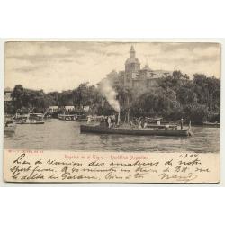 Tigre / Argentina: Regatas En El Tigre (Vintage Postcard B/W 1904)