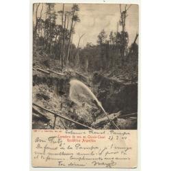 Argentina: Lavadero De Oro En Choele-Choel (Vintage Postcard B/W 1904)