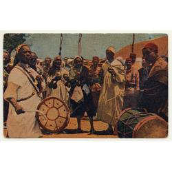 Mariano Bertuchi: Marruecos - Guenauas / Gnawa (Vintage Artist Postcard)