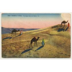6530 Scenes Et Types: Touareg Dans Les Dunes (Vintage Postcard)