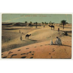 6195 Scenes Et Types: Au Desert / In The Desert (Vintage Postcard)