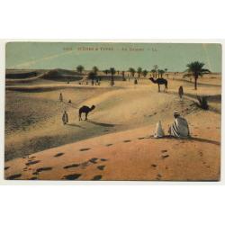 6195 Scenes Et Types: Au Desert / In The Desert (Vintage Postcard)