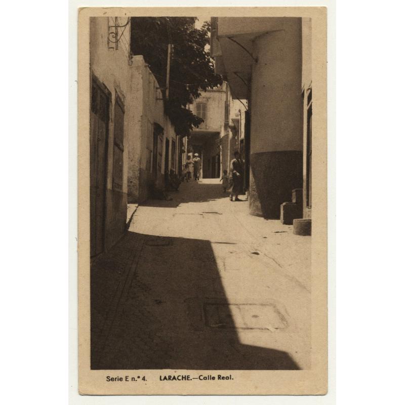Larache / Morocco: Calle Real / Street View (Vintage Postcard)