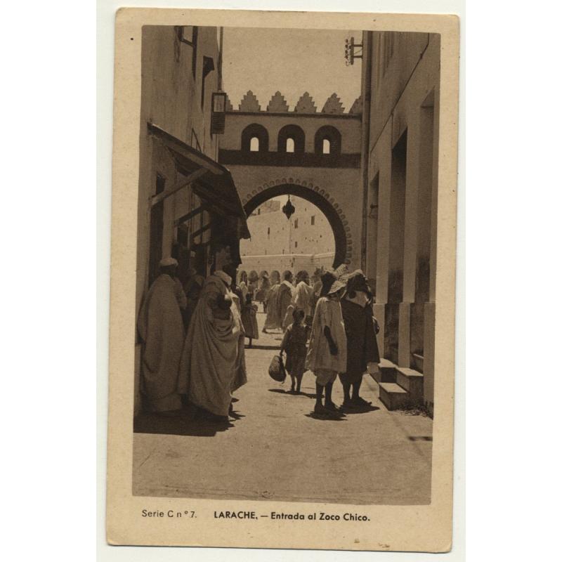 Larache / Morocco: Entrada Al Zoco Chico (Vintage Postcard)