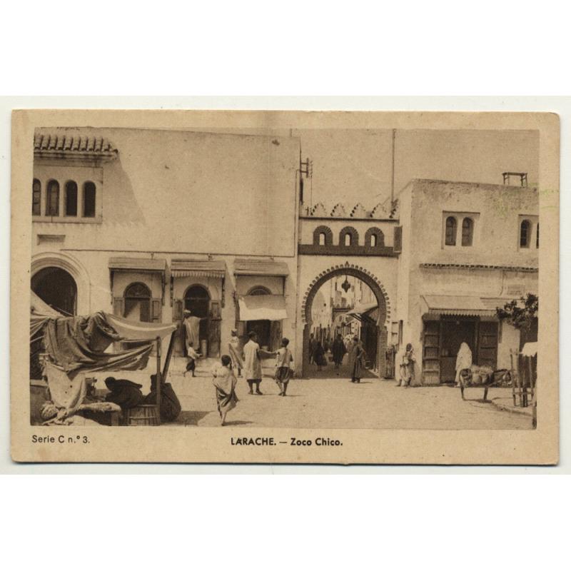 Larache / Morocco: Zoco Chico - Market (Vintage Postcard)
