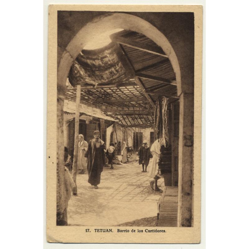 Tetuan / Morocco: Barrio De Los Curtidores (Vintage Postcard)