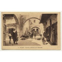 Tetuan / Morocco: Entrada Al Barrio De Los Herreros (Vintage Postcard)