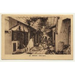 Tetuan / Morocco: Calle Tipica (Vintage Postcard)