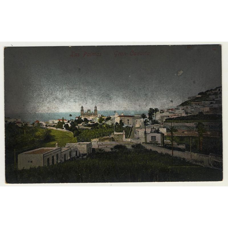 Las Palmas / Gran Canaria: View Onto The Cathedral (Vintage Colored Postcard)