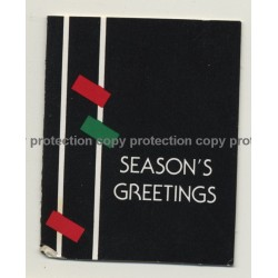 Tina Turner: Personalized Christmas Gift Card Signed By Tina 'Season's Greetings'