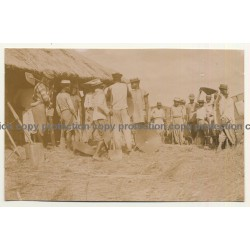 Congo Belge: Meeting Of Indigenous Gold Diggers (Vintage Photo Sepia ~1910s)