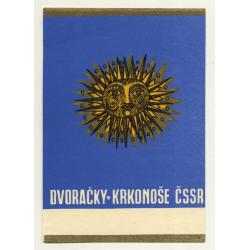 Dvoracky - Krkonose CSSR / Czech Republic (Vintage Luggage Label)