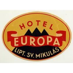 Hotel Narodny Dom - Banska Bystrica / Slovakia (Vintage Luggage Label)