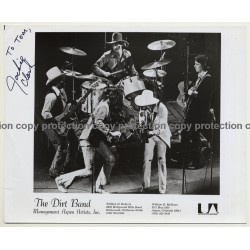 The Dirt Band - UA Press Photo - Autographed By Jackie Clark '1970s